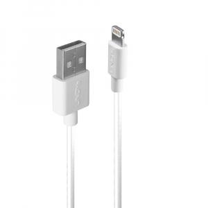 USB 2.0 - Lightning kaabel 1.0m, iPhone, iPad, iPod, valge