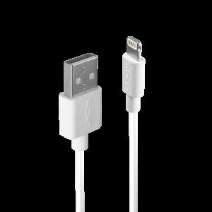 USB 2.0 - Lightning kaabel 3.0m, iPhone, iPad, iPod, valge