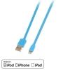 USB 2.0 - Lightning kaabel 1.0m, lapik, pööratav, sinine