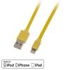 USB 2.0 - Lightning kaabel 1.0m, lapik, pööratav, kollane