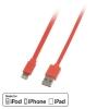 USB 2.0 - Lightning kaabel 1.0m, lapik, pööratav, oranz
