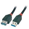 USB 3.0 pikenduskaabel A - A 1.0m, must