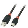 USB 2.0 kaabel A - Mini B 1.0m, must