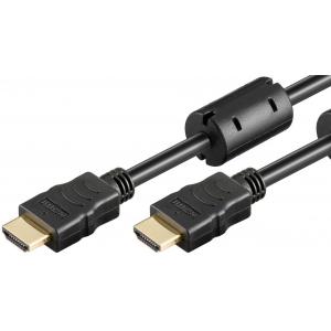 HDMI kaabel 1.5m + Ethernet, ferriitidega, 4K 3840x2160p@60Hz