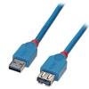 USB 3.0 pikenduskaabel A - A 0.5m, helesinine