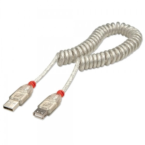 USB 2.0 spiraalkaabel A - A 2.0m (M/F)
