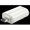Üleminek USB 2.0 A (F) - Micro B (M), valge