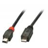 USB 2.0 kaabel Micro A - Mini B 3.0m, must