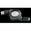 USB 3.0 kaabel A - Micro B 0.9m roteeruv, must