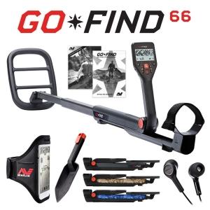 Metallidetektor Minelab Go-Find 66 + plastkühvel + kõrvaklapid + mobiili hoidik, kandekott kingituseks