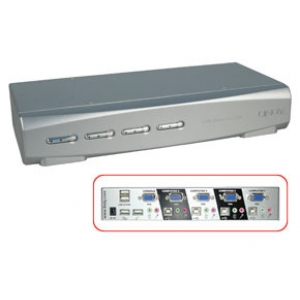 KVM Switch: 8 porti, DVI, USB, Audio