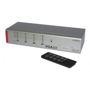 VGA + Audio matrix switch, 4 sisse - 4 välja