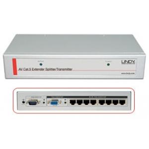 VGA+Audio pikendaja (saatja kuni 250.0m), 8 porti
