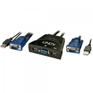 KVM Switch: 2 porti, USB & VGA