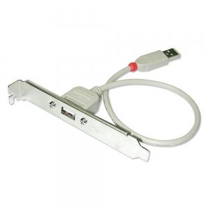 Adapter USB 2.0 (F) - (M) 0.3m, arvuti taga paneelile, hall