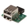 Adapter USB 2.0 2 x A (F) - 2 x USB port ühendus arvuti emaplaadile