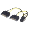 Üleminek 2x SATA 15pin (M) - PC 6pin (M) 0.15m