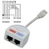 STP 10/100 pordi jagaja: 2 x Fast Ethernet