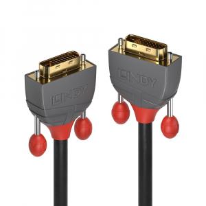 DVI-D Dual Link kaabel 20.0m, must, 2560x1600@60Hz, ANTHRA