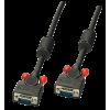 VGA kaabel 0.25m, must ferriitidega, DDC Premium
