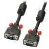 VGA kaabel 3.0m, must ferriitidega, DDC Premium