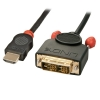 HDMI - DVI-D Single Link kaabel 0.5m, must