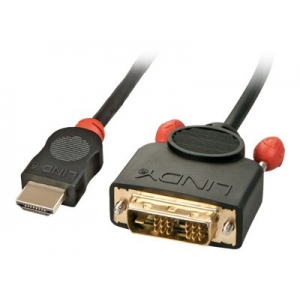 HDMI - DVI-D Single Link kaabel 1.0m, must