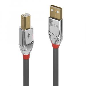USB 2.0 kaabel A - B 0.5m, CROMO