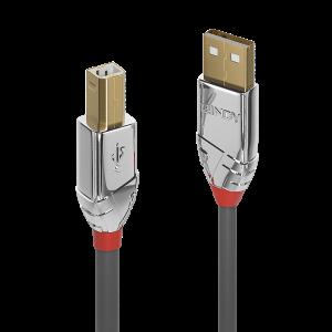 USB 2.0 kaabel A - B 3.0m, CROMO