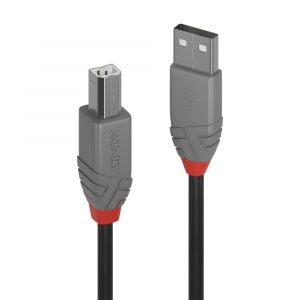 USB 2.0 kaabel A - B 0.2m, ANTHRA
