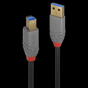 USB 3.0 kaabel A - B 5.0m, ANTHRA