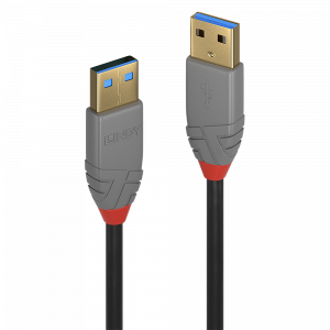 USB 3.0 kaabel A - A 0.5m, ANTHRA