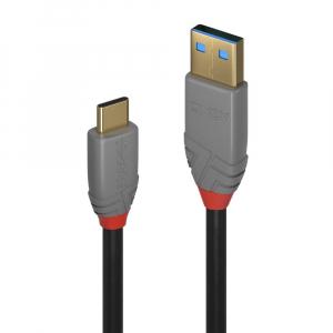 USB-C kaabel  A - C 1.5m, USB 3.1 5A, Anthra Line...
