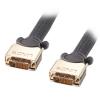DVI-D Dual Link kaabel 20.0m, hall, Gold, 1080p