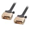DVI-D Single Link kaabel 10.0m, hall, Gold, 1080p
