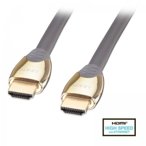 HDMI kaabel 1.0m, Gold + Ethernet, 3D 2160p