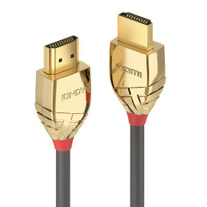 HDMI kaabel 10.0m, Ethernet, 4K 4096x2160, Gold Line