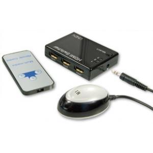 HDMi switch, 3 sisse/ 1 välja, kaugjuhtimispuldiga