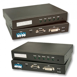 DVI-D Dual Link, audio, RS-232 pikendaja kuni 500m läbi FO MM kaabli