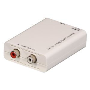 Konverter HDMI ARC DAC (M) - Analog Stereo (digitaal > analoog), valge