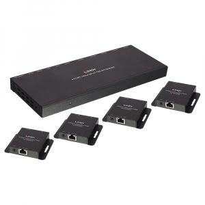 HDMI pikendaja 4porti läbi CAT6 kuni 50.0m, 1920x1080 @60Hz