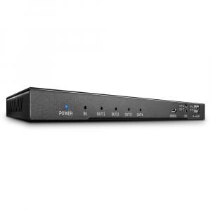 HDMI splitter, 1 sisse/ 4 välja + Toslink + 3.5mm 4K@60Hz