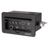 Süvistatav lauapesa/ konverter: HDMI, Mini Displayport, VGA, 3.5mm, 3xRCA, RJ45