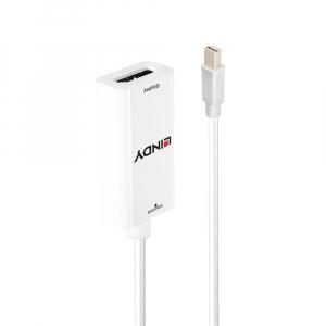 Üleminek Mini Displayport (M) - HDMI (F), 2K@60Hz 0.1m, valge