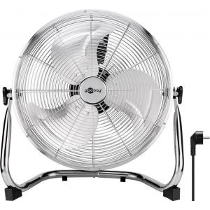 Ventilaator põrandale/lauale Ø40 cm (16´´), kaabel 1.2m, on/off lüliti, 90W, kroom, metallist