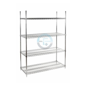 SHELVING UNIT - 4 WIRED SHELVES 460x1220mm