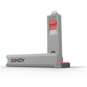 LINDY 40425 USB-C pordi lukk, roosa, 4tk + võti