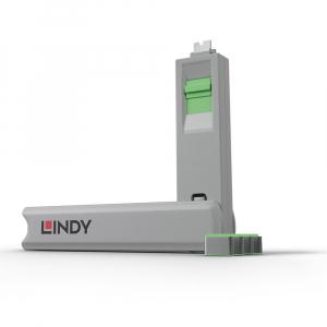 LINDY 40426 USB-C pordi lukk, roheline, 4tk + võti