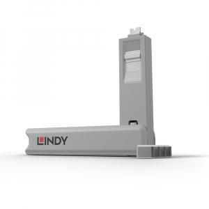 LINDY 40427 USB-C pordi lukk, valge, 4tk + võti