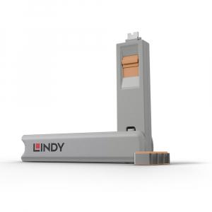 LINDY 40428 USB-C pordi lukk, oranz, 4tk + võti